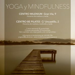 clases de yoga y mindfulness